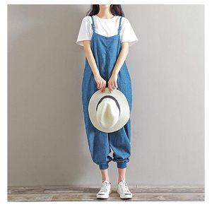 Denim - Stretch denim dungarees